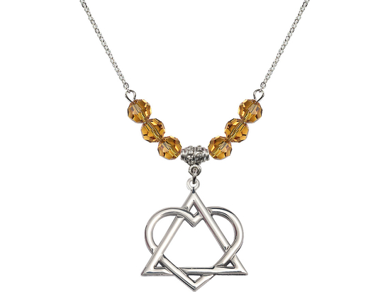 N30 Birthstone Necklace<br>Adoption Heart<br>Available in 15 Colors