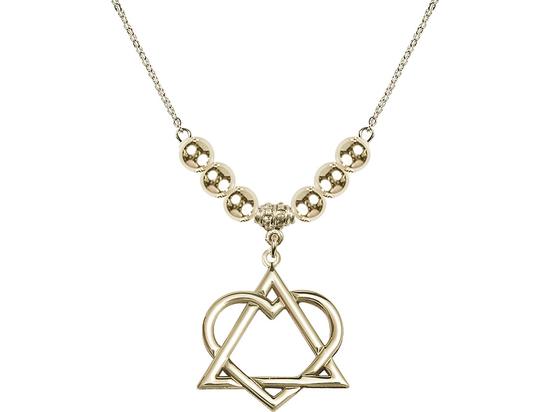 N32 Birthstone Necklace<br>Adoption Heart