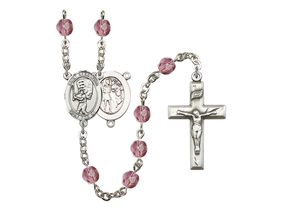 R6000 Series Rosary<br>St. Sebastian / Baseball<br>Available in 12 Colors