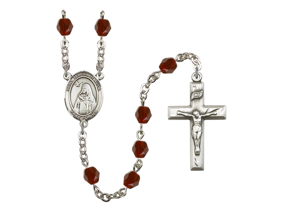 R6000 Series Rosary<br>St. Teresa of Avila<br>Available in 12 Colors