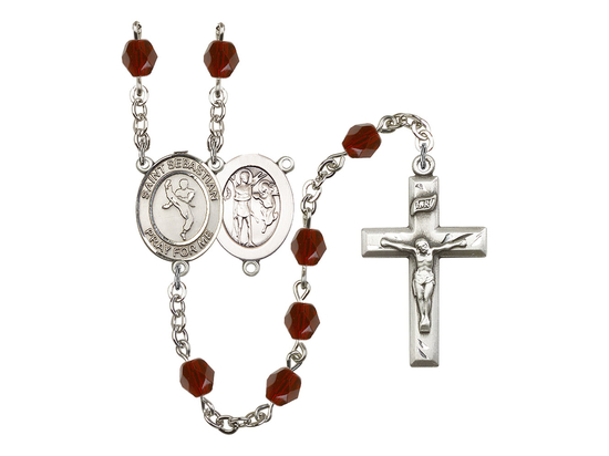 R6000 Series Rosary<br>St. Sebastian/Martial Arts<br>Available in 12 Colors