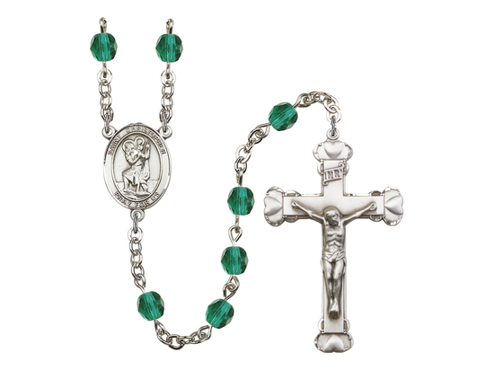 R6001 Series Rosary<br>St. Christopher<br>Available in 12 Colors