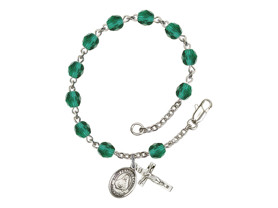 RB6000 Series Rosary Bracelet<br>St. Frances Cabrini<br>Available in 12 Colors