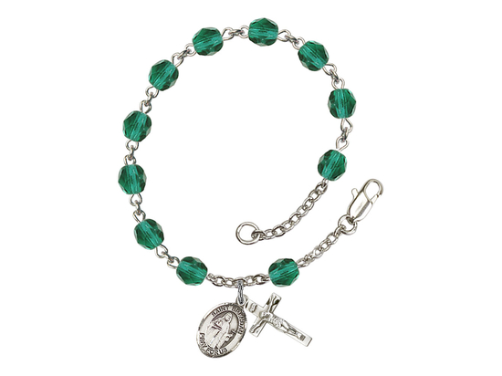 RB6000 Series Rosary Bracelet<br>St. Brendan the Navigator<br>Available in 12 Colors