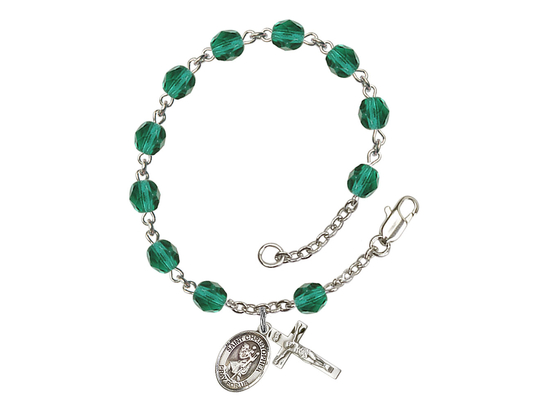 RB6000 Series Rosary Bracelet<br>St. Christopher<br>Available in 12 Colors