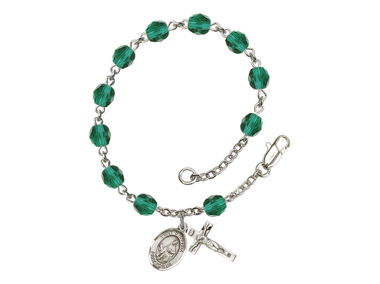 RB6000 Series Rosary Bracelet<br>St. Dymphna<br>Available in 12 Colors