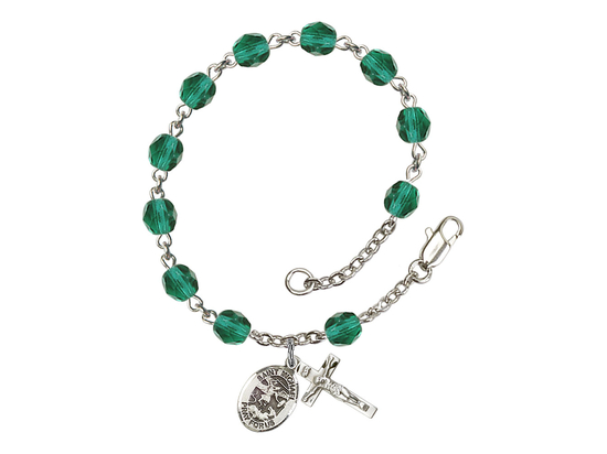 RB6000 Series Rosary Bracelet<br>St. Michael the Archangel<br>Available in 12 Colors