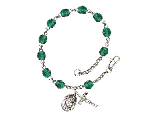 RB6000 Series Rosary Bracelet<br>St. Thomas Aquinas<br>Available in 12 Colors