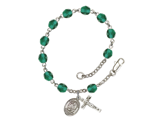 RB6000 Series Rosary Bracelet<br>St. William of Rochester<br>Available in 12 Colors