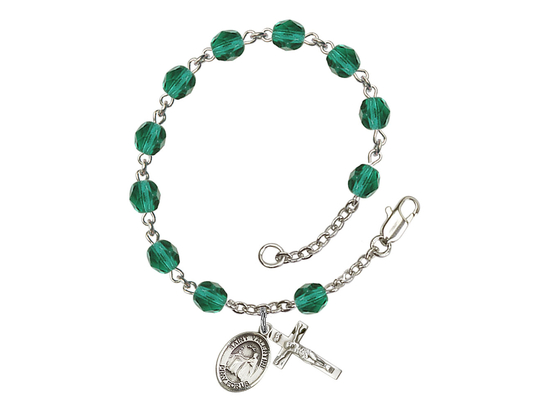 RB6000 Series Rosary Bracelet<br>St. Valentine of Rome<br>Available in 12 Colors