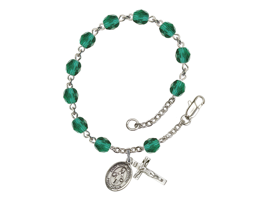 RB6000 Series Rosary Bracelet<br>St. Nino de Atocha<br>Available in 12 Colors