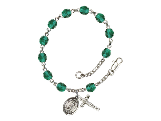RB6000 Series Rosary Bracelet<br>St. Victor of Marseilles<br>Available in 12 Colors