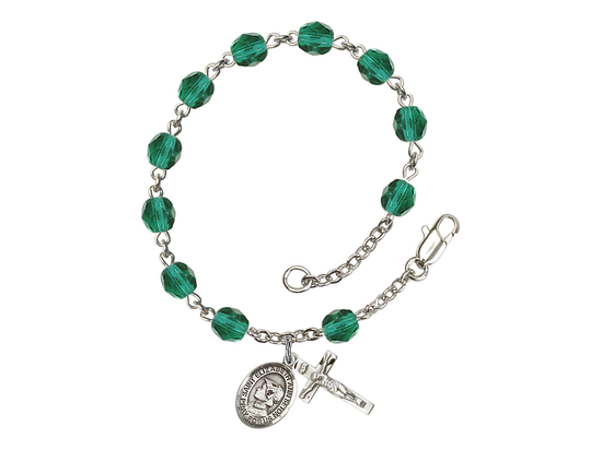 RB6000 Series Rosary Bracelet<br>St. Elizabeth Ann Seton<br>Available in 12 Colors
