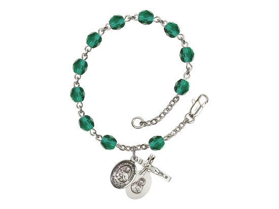 RB6000 Series Rosary Bracelet<br>O/L of Mount Carmel<br>Available in 12 Colors