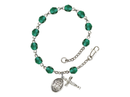 RB6000 Series Rosary Bracelet<br>St. Isidore the Farmer<br>Available in 12 Colors