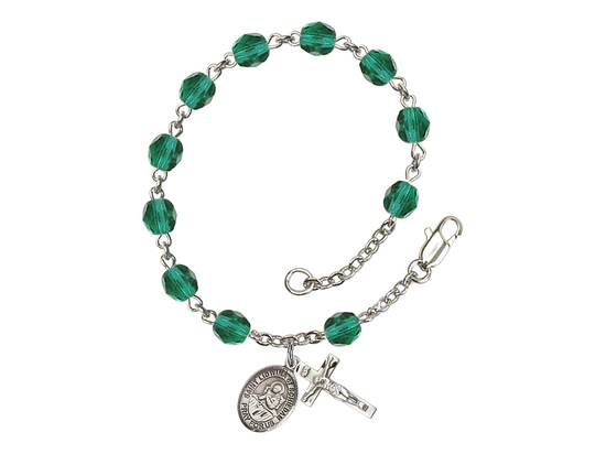 RB6000 Series Rosary Bracelet<br>St. Lidwina of Schiedam<br>Available in 12 Colors
