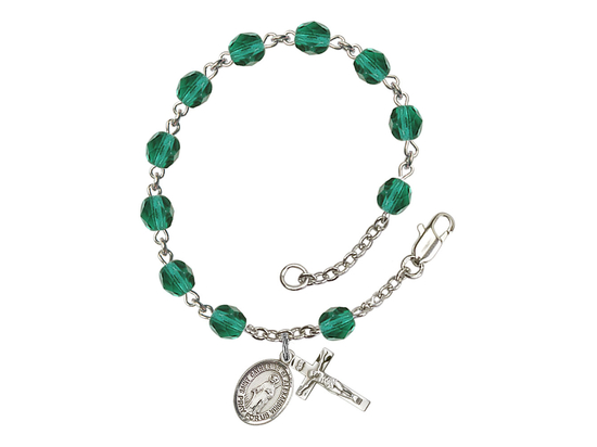 RB6000 Series Rosary Bracelet<br>St. Catherine of Alexandria<br>Available in 12 Colors
