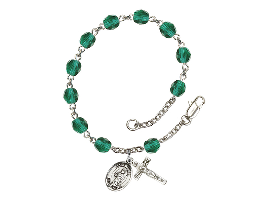 RB6000 Series Rosary Bracelet<br>St. Uriel the Archangel<br>Available in 12 Colors