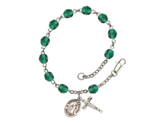 RB6000 Series Rosary Bracelet<br>St. Raymond of Penafort<br>Available in 12 Colors