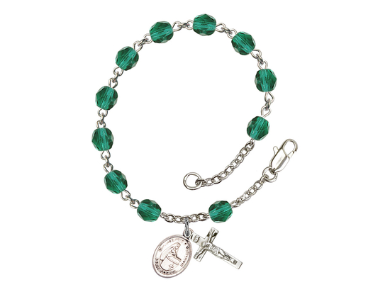 RB6000 Series Rosary Bracelet<br>Blessed Emilee Doultremont<br>Available in 12 Colors