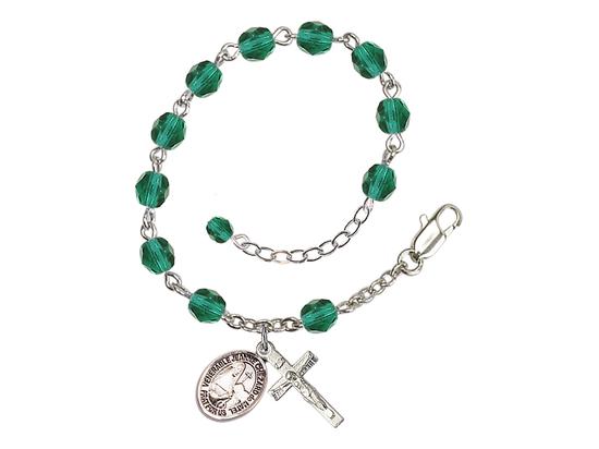 RB6000 Series Rosary Bracelet<br>St. Jeanne Chezard de Matel<br>Available in 12 Colors