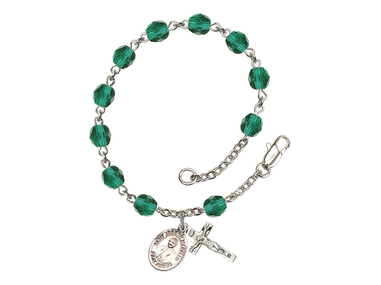 RB6000 Series Rosary Bracelet<br>St. Joseph Marello<br>Available in 12 Colors