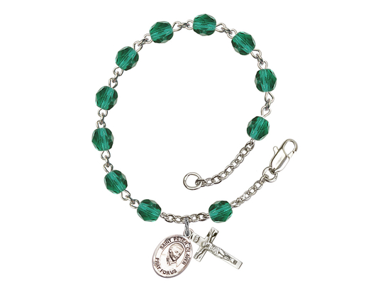 RB6000 Series Rosary Bracelet<br>St. Peter Claver<br>Available in 12 Colors