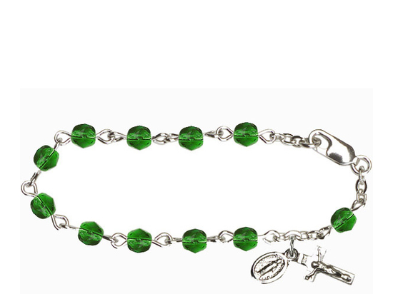 RBI0034 Series Infant Rosary Bracelet<br>Available in 12 bead colors