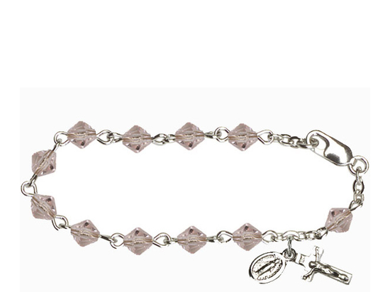RBI0387 Series Infant Rosary Bracelet<br>Available in 6 bead colors