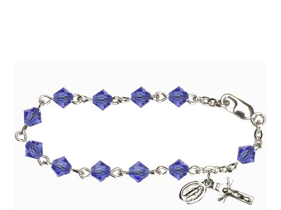 RBI0885 Series Infant Rosary Bracelet<br>Available in 14 bead colors