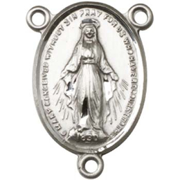 Miraculous<br>0015CTR - 3/4 x 1/2<br>Rosary Center