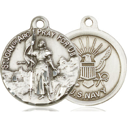St Joan of Arc Navy<br>0193--6 - 7/8 x 3/4
