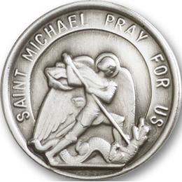 Saint Michael the Archangel<br>0201V - 1 1/4 x 1 1/4<br>Visor Clip