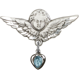 Miraculous Blue Epoxy<br>Baby Badge - 0217B/0733
