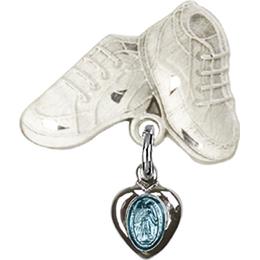 Miraculous Blue Epoxy<br>Baby Badge - 0217B/5923