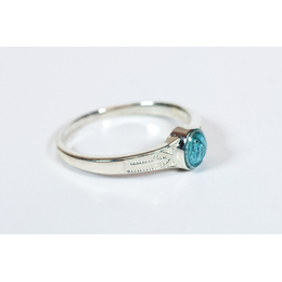 0511BM - Miraculous Ring<br>Blue Epoxy