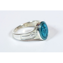 0520BM - Miraculous Ring<br>Blue Epoxy