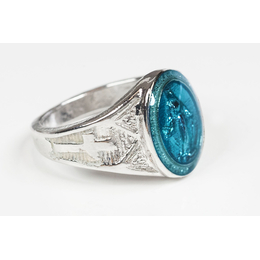 0521BM - Miraculous Ring<br>Blue Epoxy
