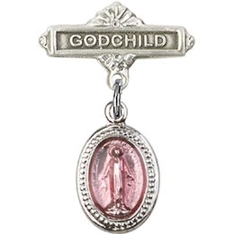 Miraculous Pink Epoxy<br>Baby Badge - 0700P/0736
