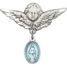 Miraculous Blue Epoxy<br>Baby Badge - 0702EM/0733