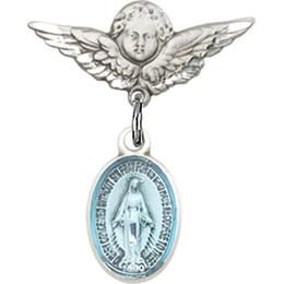 Miraculous Blue Epoxy<br>Baby Badge - 0702EM/0735