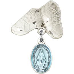 Miraculous Blue Epoxy<br>Baby Badge - 0702EM/5923