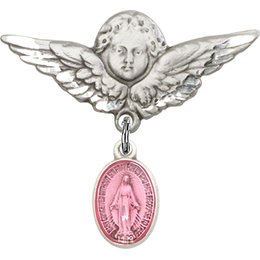 Miraculous Pink Epoxy<br>Baby Badge - 0702PM/0733