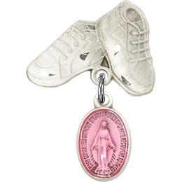 Miraculous Pink Epoxy<br>Baby Badge - 0702PM/5923