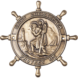 Saint Christopher Boat Plaque<br>1020 - 3 x 3