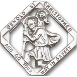 Saint Christopher<br>1025V - 1 1/2 x 1 1/2<br>Visor Clip