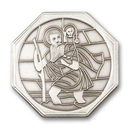 Saint Christopher<br>1028V - 1 5/8 x 1 3/4<br>Visor Clip