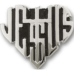 Jesus Heart<br>1044V - 1 x 1 1/8<br>Visor Clip
