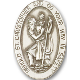 Saint Christopher<br>1051V - 1 3/8 x 1<br>Visor Clip