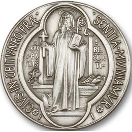 Saint Benedict<br>1057V - 1 1/2 x 1 1/2<br>Visor Clip